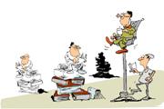 Caricatura drepturi de autor-w